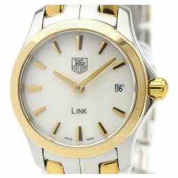 Tag Heuer White Gold Plated Stainless Steel Mini Link WJF1450 Women's Wristwatch 24 MM 226461