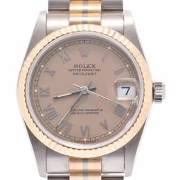 Rolex Brown 18k White Gold/Pink Gold/Yellow Gold Datejust 68279BIC Women's Wristwatch 29 MM 227826