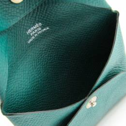 Hermes Green Leather Epsom Bastia Coin Purse 228717