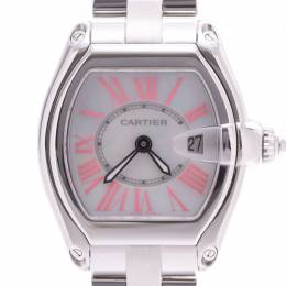Cartier Shell Stainless Steel Roadster Women's Writstwatch 31x37MM 227902