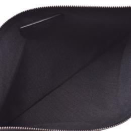Loewe Navy Blue /Pink Calfskin Leather Butterfly Motif Clutch Bag