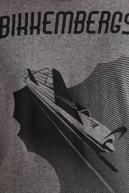 Серый джемпер с самолетом Bikkembergs 1487154908