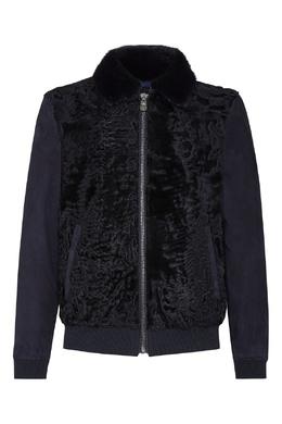 Темно-синяя комбинированная куртка Billionaire 1668155386