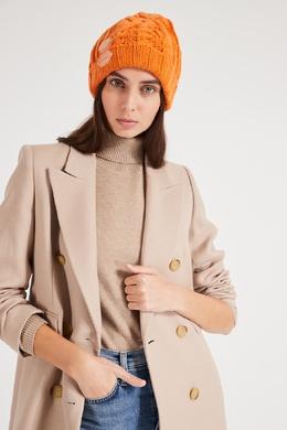Вязаная шапка оранжевого цвета Off-White 2202155213