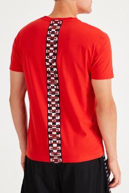 Красная футболка из хлопковой ткани Bikkembergs 1487154941