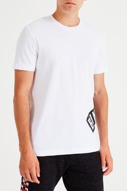 Белая футболка из хлопка Bikkembergs 1487154940