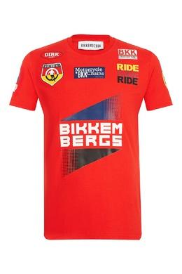 Красная футболка с яркими эмблемами Bikkembergs 1487154947