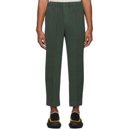 Homme Plisse Issey Miyake Khaki Light Pleated Trousers FF015