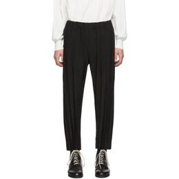 Issey Miyake Men Black Chambray Trousers 192728M19101601GB