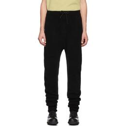 Isabel Benenato Black Merino Wool and Yak 3-Pocket Lounge Pants 192732M19100403GB
