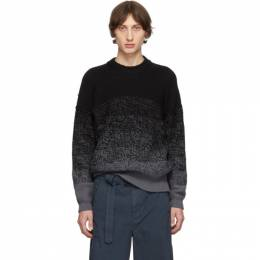 Issey Miyake Men Black Wool Low Gauge Gradation Sweater 192728M20100402GB