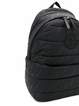 Moncler Kids Monogram print padded backpack 006130002S3T