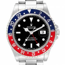 Rolex Black Stainless Steel GMT Master 16700 Men's Wristwatch 40 MM 231115