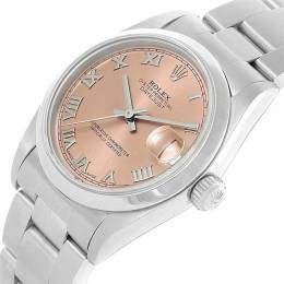 Rolex Salmon Stainless Steel Datejust 78240 Women's Wristwatch 31MM 230555
