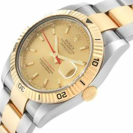 Rolex Champagne 18K Yellow Gold and Stainless Steel Datejust Turnograph 116263 Men's Wristwatch 36MM 231256