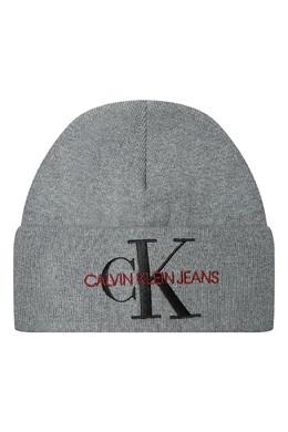 Серая шапка с логотипом Calvin Klein 596156451