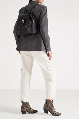Черный кожаный рюкзак Evie Coach 2219156037