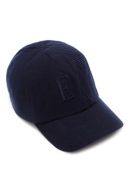 Синяя бейсболка с вышитым логотипом Emporio Armani 2706156345