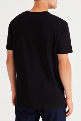 Черная футболка с контрастным логотипом Bikkembergs 1487156469