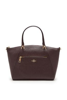 Бордовая кожаная сумка-тоут Prairie Coach 2219155962