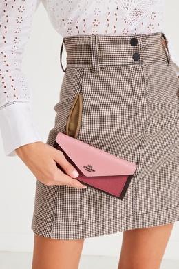 Розово-коричневый кошелек Coach 2219156068
