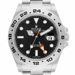Rolex Black Stainless Steel Explorer II 216570 Men's Wristwatch 42MM 231276