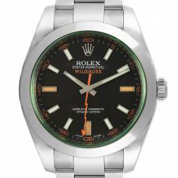 Rolex Black Stainless Steel Milgauss 116400V Men's Wristwatch 40MM 231295