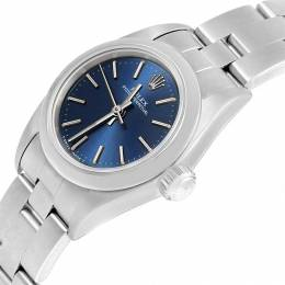 Rolex Blue Stainless Steel Oyster Perpetual Nondate 67180 Women's Wristwatch 24MM 231329