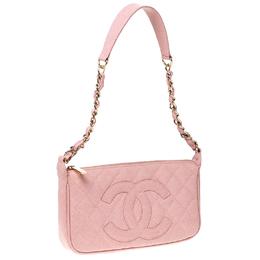 Chanel Pink Caviar Leather CC Shoulder Bag 227596