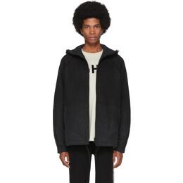 Y-3 Black Punched Knit Jacket 192138M18000205GB