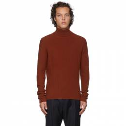 Hugo Orange Wool Degrade Rib Extra Slim Fit Turtleneck 192084M20501301GB