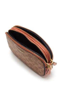 Компактная сумка-трансформер из канваса и кожи Sadie Coach 2219156552