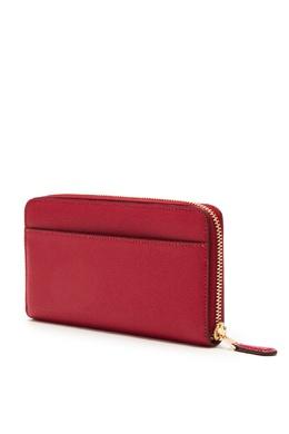 Красный кожаный кошелек на молнии Coach 2219156559