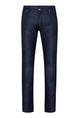 Темно-синие джинсы с кожаным декором Billionaire 1668156186