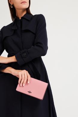Розовый кожаный клатч-кроссбоди Hayden Foldover Coach 2219156548