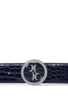 Темно-синий ремень из крокодиловой кожи Billionaire 1668156218