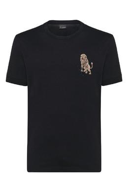 Черная футболка со львом Billionaire 1668156200