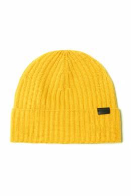 Желтая кашемировая шапка бини Coach 2219156566