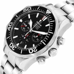 Omega Black Stainless Steel Seamaster Chronograph 2594.52.00 Men's Wristwatch 41.5 MM 231842