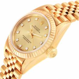 Rolex Champagne 18k Yellow Gold Diamond President No-Date 67198 Women's Wristwatch 24MM 232096