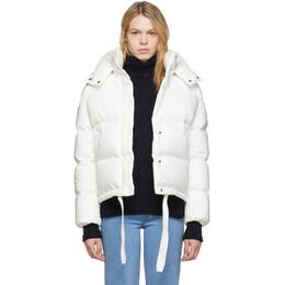 Moncler White Down Onia Jacket E20934591400V0041