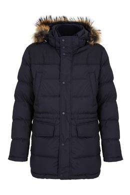 Стеганая куртка с меховой опушкой Paul & Shark 2321156514