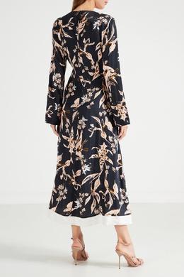 Платье из вискозы и шелка с цветочным принтом Dorothee Schumacher 1512156313