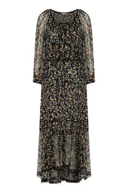 Черное платье с мелким цветочным принтом Dorothee Schumacher 1512156331