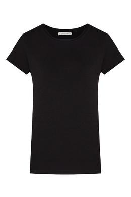 Черная футболка из хлопкового джерси Dorothee Schumacher 1512156294
