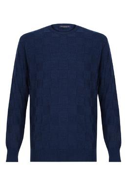 Ярко-синий джемпер с квадратами Paul & Shark 2321156521