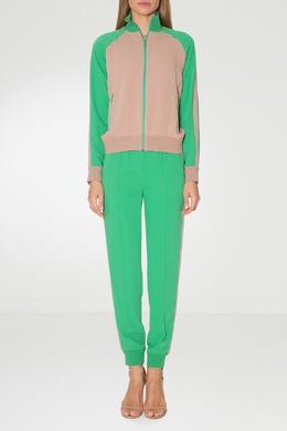 Зеленые брюки со стрелками Alexander Terekhov 74124900