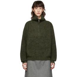 Isabel Marant Etoile Green Myclan Knit Fluffy Turtleneck 192599F09900604GB