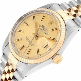 Rolex Champagne 18K Yellow Gold And Stainless Steel Datejust 16013 Men's Wriswatch 36 MM 232732