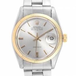 Rolex Silver and Stainless Steel Air King 5701 Men's Wristwatch 34MM 232809